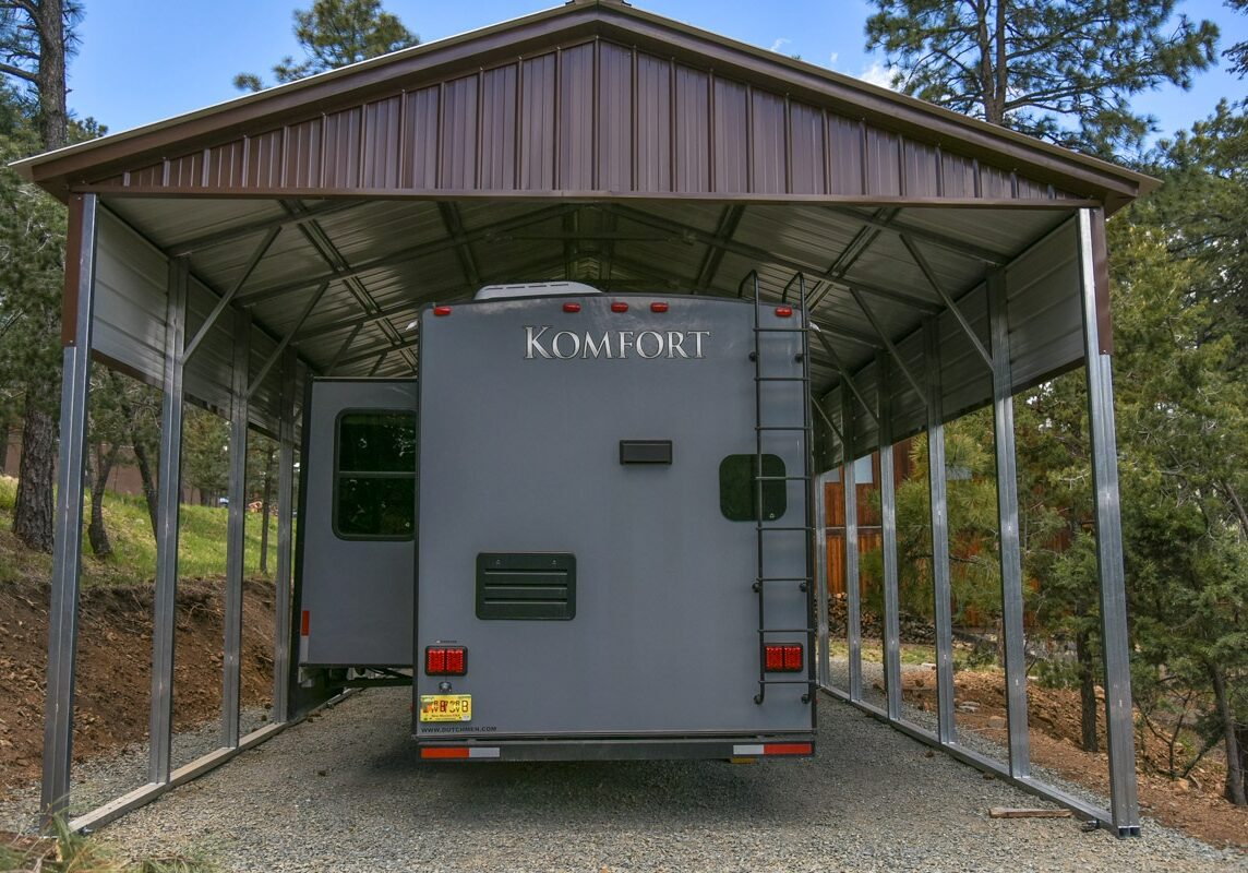 RV Cover vertical roof